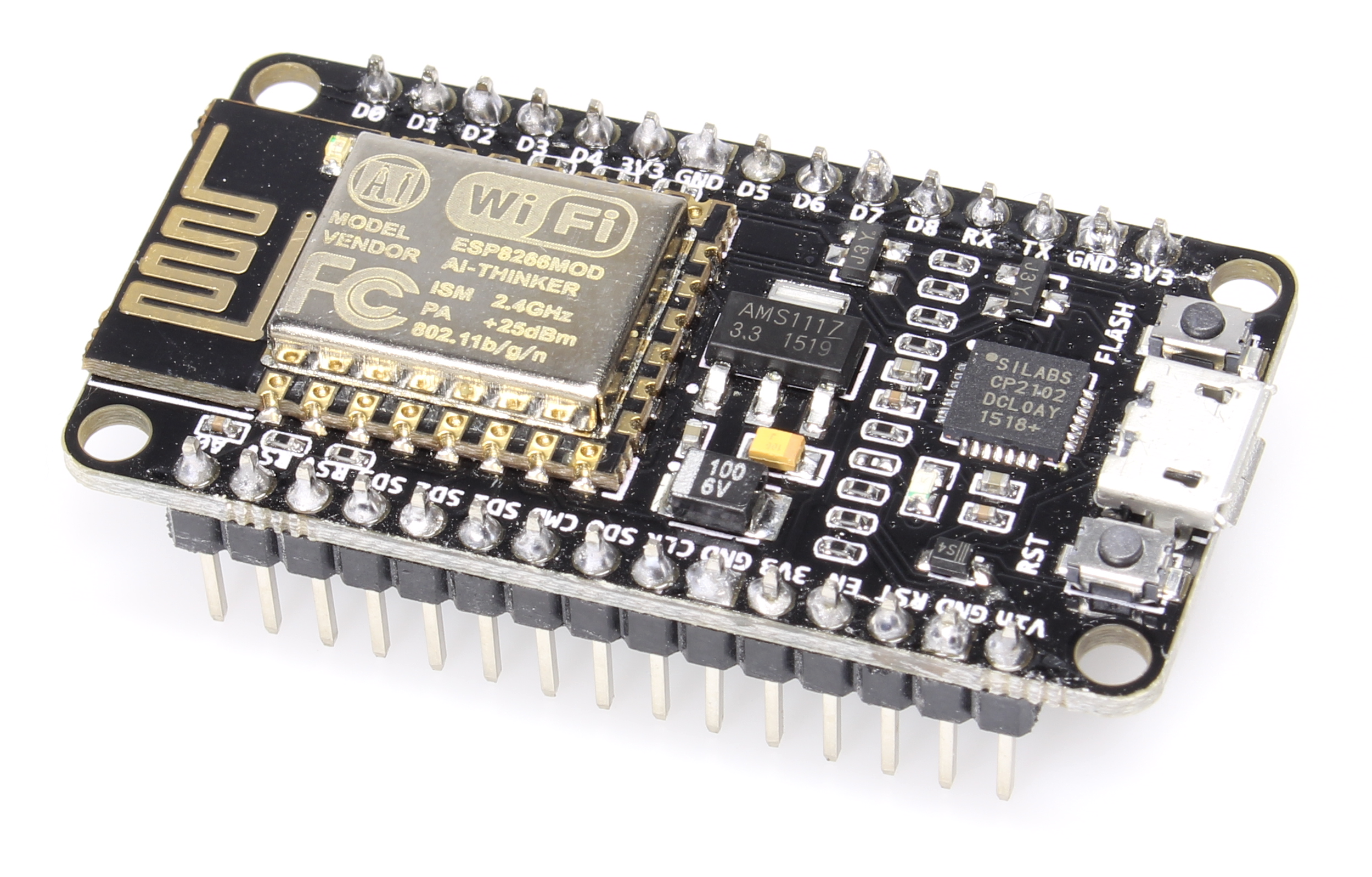Płytka rozwojowa NodeMCU wykorzystująca moduł ESP8266